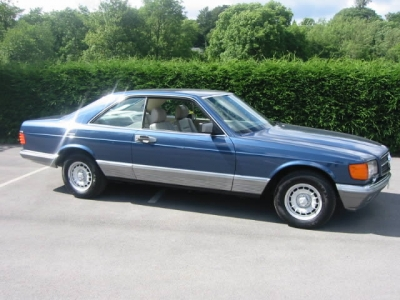1986 mdl Mercedes 500 SEC SOLD